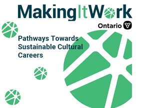 Making it work green logo, circles and lines