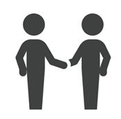 Two people shaking hands, Greeting, Introductions, Connecting, Networking